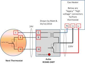 nest thermostat 220v rc840